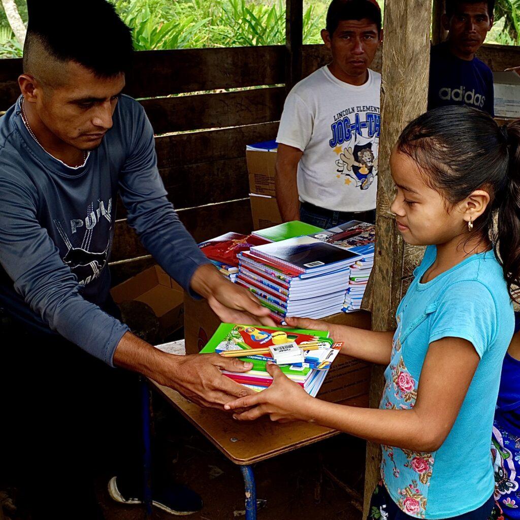 Guatemalan Girl Receives School Supplies